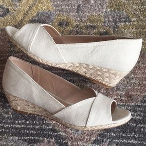 Kelly & Katie Tan Wedge Sandals - EUC